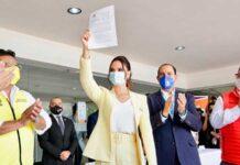 Lupita Jones se registró como candidata a la gubernatura de Baja California