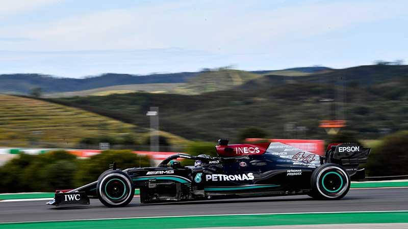 Hamilton cierra el viernes al frente en Portugal y Pérez en top 10